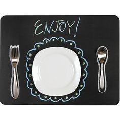 placemat chalkboard fabric