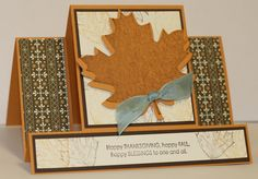 Stampin' Up Fall/Thanksgiving easel card