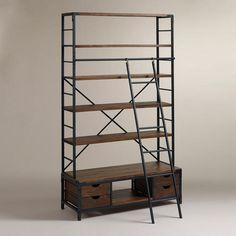 WorldMarket.com: Metal Bookcase and Ladder