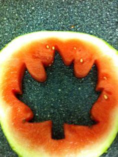 Canada Day watermelon decoration