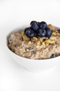 Blueberry Cheesecake Oatmeal from Rabbit Food for My Bunny Teeth