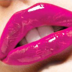 Hot Pink Glossy Lips