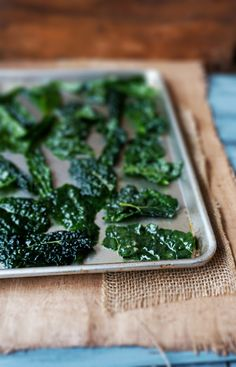 Salt & Vinegar Kale Chips: easy and delicious...but they shrink bigtime!! start with bigger pieces next time. These were good! Used pink Himalayan salt! *VZ