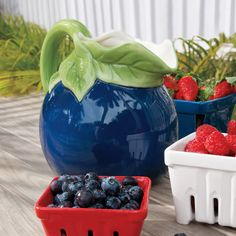 Ceramic Blueberry Pitcher