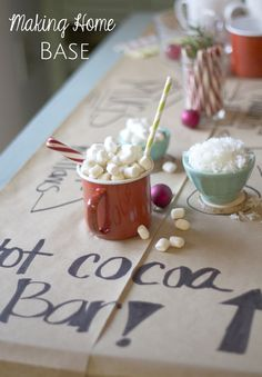 Holiday Entertaining Ideas - Hot Cocoa Bar