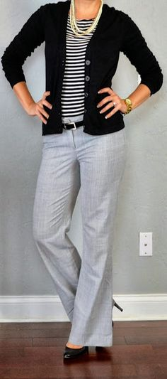 Simple and decent work style fashion with cardigan