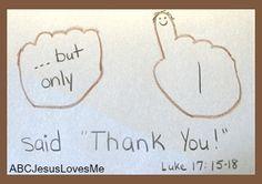 jesus heals ten lepers craft - Google Search