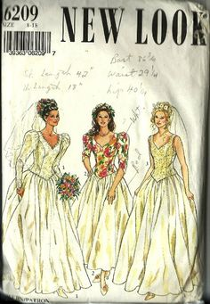 Simplicity New Look Wedding Dress Pattern 6209 by TheIDconnection, $30.00