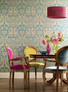 chair, dine space, preppy interior, dining spaces, triadic color schemes