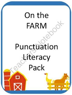 FARM Punctuation Literacy Center from Teaching my Two on TeachersNotebook.com -  (47 pages)  - This 47 page Literacy Center has it all for learning about punctuation!   Included are the following:  - Sentence flip books for reading practice (3 versions: color, black and white and a version to color)  - Sentence Scramble game - with 6 versions of se
