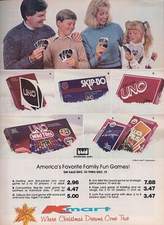 K-Mart Christmas Ad for Uno Games, 1984