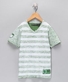 Take a look at this Kelly Green Splash Tee - Boys  by Boys Will Be Boys Collection on #zulily today!
