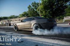 Our friends at Spade Kreations giving their Vortech supercharged 5th gen Camaro and Forgeline DS3 wheels a workout at the dragstrip. See more at: http://www.forgeline.com/customer_gallery_view.php?cvk=1001  #Forgeline #DS3 #notjustanotherprettywheel #madeinUSA #Chevy #Camaro