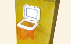 Wet wipes lid turned into Mini Basketball.... Good idea!