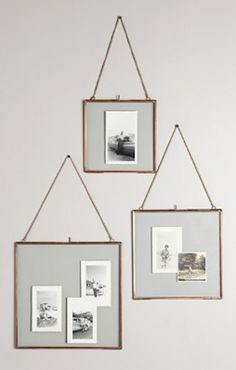 love these rustic hanging frames #anthrofave http://rstyle.me/n/rwxr5r9te