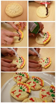 Turkey cookies--an easy DIY to do with the kids!