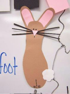 craft kids, school, bunni foot, foot print, footprint crafts