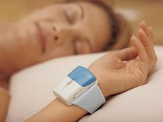 Dreamate Sleep Aid by Hivox - The Dreamate is designed to help you sleep better. It sends pulse waves to the wrist's specific acupuncture points, promoting better blood circulation and deep sleep. Simply strap it on for an hour before bedtime and you'll be drifting into slumber land before you know it. GetdatGadget.com