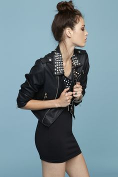 Studded Moto Crop Jacket  http://www.nastygal.com/clothes%5Fouterwear%5Fmoto/studded%2Dmoto%2Dcrop%2Djacket