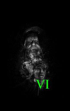 Star Wars Episode VI Poster by Rafał Rola Return of the Jedi