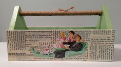 Children's 50s style Box decoupaged with by PillowtasticPlus, $20.00