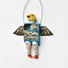 Pigeon-Toed ~ Assemblage by Elizabeth Rosen.
