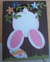 Easter bunny card cased