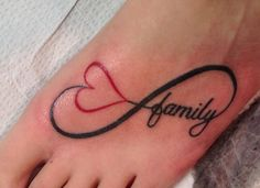 To love family for infinity tattoo