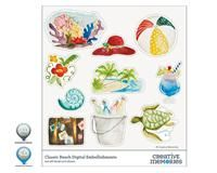 Classic Beach Digital Embellishments for StoryBook Creator