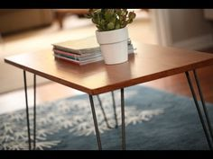 Looking for a new DIY project? Learn how to transform a coffee table into a Mid-Century Modern masterpiece thanks to @Cabotstains Woodcare  and Kiersten Hathcock of @Kiersten Hathcock of Mod Mom Furniture Check out the new Cabot Premium Wood Finish here: http://www.cabotstain.com/products/product/Premium-Wood-Finish.html or find it exclusively at Lowe's stores. #sponsored