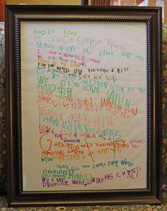 Bible verses written by kids. :)