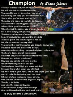 "Gymnastics Poster Shawn Johnson Champion Poem Olympic Gymnast Quote Wall Art Print 8x11"" - Free USA Ship"
