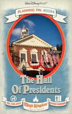 Walt Disney World Planning Pins: The Hall of Presidents