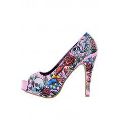 Pretty Fierce Peep Toe Platform ❤ Pink
