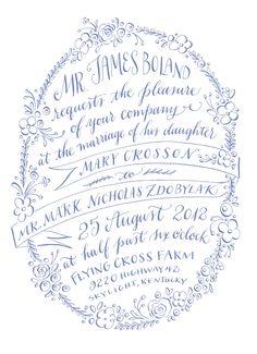 Tipografía - Caligrafía // Typography - Calligraphy - Lettering Majestuosa invitación caligráfica #caligrafia #invitacionconcaligrafía #invitaciondeboda
