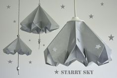 starry sky | DIY Paper Lamp Shade from @becolorand