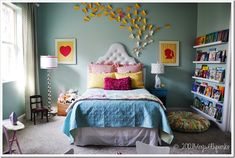 This girls bedroom is AMAZING! There isn't anything I don't love about it!