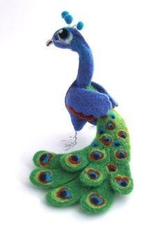 Needle Felted Peacock