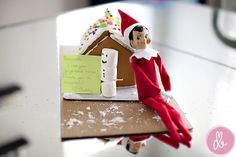 Elf on a Shelf...make a book of all the spots Buddy winds up to give to your child