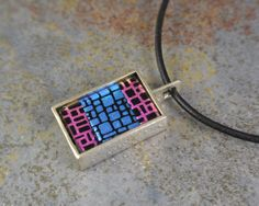 Sterling silver and fused glass pendant with by MarkWhiteDesigns, $66.50