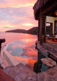 Peninsula Villa Lounge at Dusk Laucala Island Resort, Taveuni Fiji
