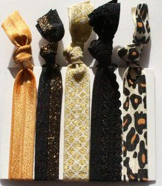 """Show Cat Hair Ties 5 Pack - Sassy Knots 