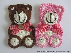 lindos aplique con crochet tutoriales