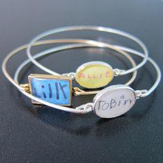 Child's Signature Bracelet, Personalized Grandma Gift, Personalized Grandma Jewelry, Nana Jewelry, Birthday Gift for Grandma Bracelet.