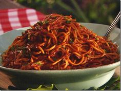 Try the Neely Brothers BBQ Spaghetti at Neely's #OneOfAKindNashville