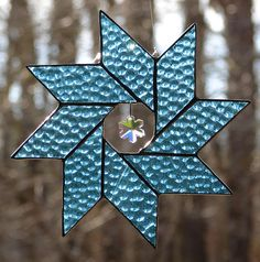 Ice+Blue+Snowflake+by+theglassmenagerie+on+Etsy,+$14.00