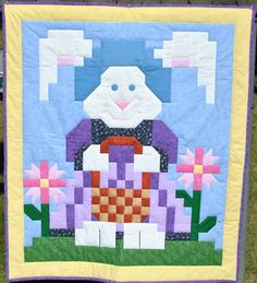 Easter Rabbit Quilt Pattern FREE-016e