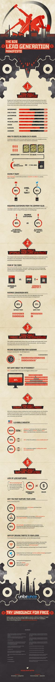 B2B Lead Generation Manifesto #infographic