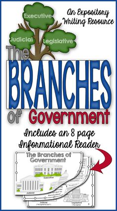 This Branches of Government Flip Flap Book and 8-page Informational Reader is all you will need to teach your students about the Three Branches of Government!  It's FUN and INTERACTIVE!!$
