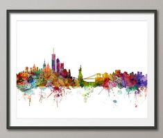 new york city skyline art print, artpause (etsy)